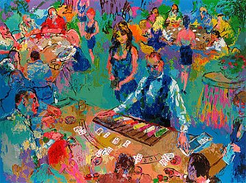 High Stakes Blackjack 2008 Limited Edition Print by LeRoy Neiman