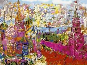 Red Square Panorama 1987 Limited Edition Print - LeRoy Neiman