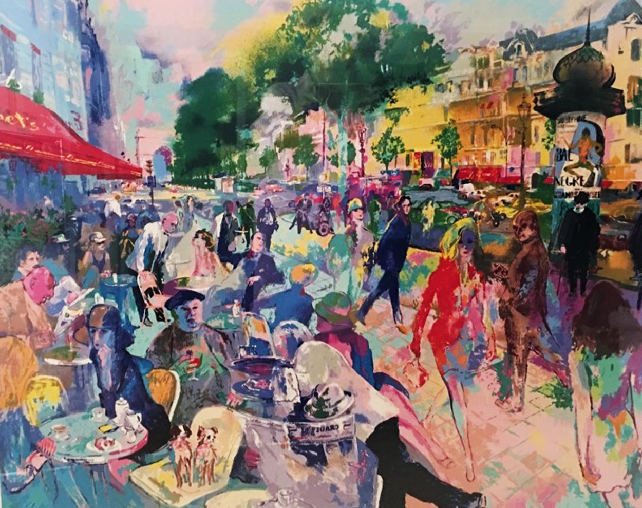 Cafe Fouquets 1993 Limited Edition Print by LeRoy Neiman