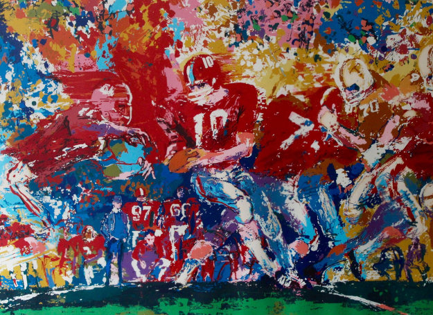 Alabama Handoff  1974 Limited Edition Print by LeRoy Neiman
