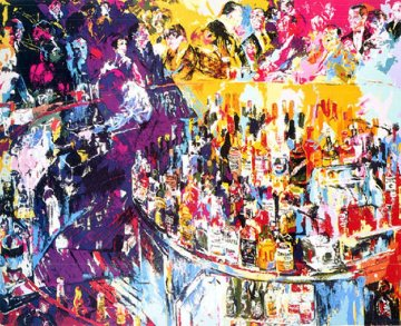 Toots Shor Bar AP 1975 Limited Edition Print - LeRoy Neiman