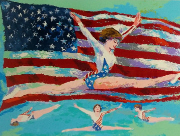 Golden Girl 1985 Limited Edition Print by LeRoy Neiman