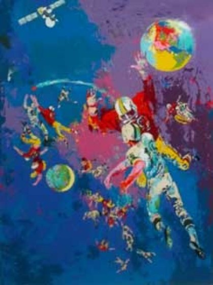 Satellite Football Limited Edition Print by LeRoy Neiman