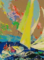 Normandy Sailing 1980 Limited Edition Print by LeRoy Neiman - 0