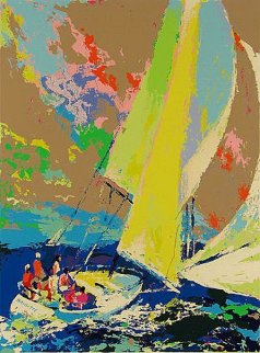Normandy Sailing 1980 Limited Edition Print by LeRoy Neiman