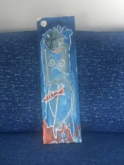 Woman Under the Sea Original Painting - Neith Nevelson
