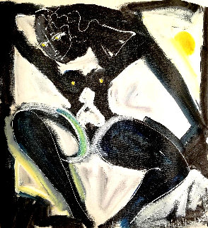 Untitled Female Nude 1993 24x21 Original Painting by Neith Nevelson