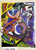 Untitled Painting 1991 22x16 Original Painting by Neith Nevelson - 1