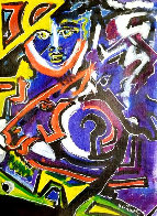 Untitled Painting 1991 22x16 Original Painting by Neith Nevelson - 0