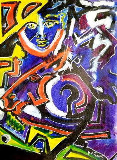 Untitled Painting 1991 22x16 Original Painting by Neith Nevelson