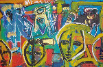 Untitled Painting 1999 18x26 Original Painting - Neith Nevelson