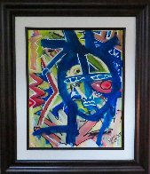 Colorful Face 2014 20x16 Original Painting by Neith Nevelson - 1
