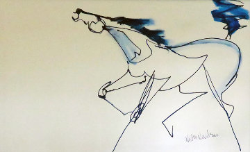 Horse 2014 22x34 Original Painting - Neith Nevelson