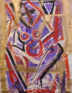 Woman 2014 20x16 Original Painting - Neith Nevelson