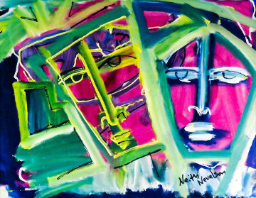 Two Faces 2014 19x24 Original Painting by Neith Nevelson