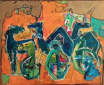 Untitled Painting 2000 22x28 Original Painting - Neith Nevelson