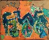 Untitled Painting 2000 22x28 Original Painting by Neith Nevelson - 0