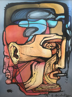 Man With Cigarette 44x33 Original Painting by Ernst Neizvestny