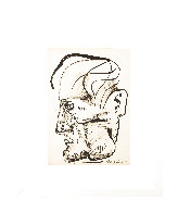 Profile of a Man Drawing 1968 26x21 Works on Paper (not prints) by Ernst Neizvestny - 1