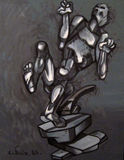 Metallic Dance 1988 Original Painting by Ernst Neizvestny