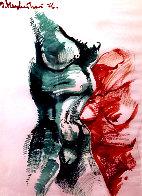 Female Seduction 2 1976 22x30 Original Painting by Ernst Neizvestny - 0