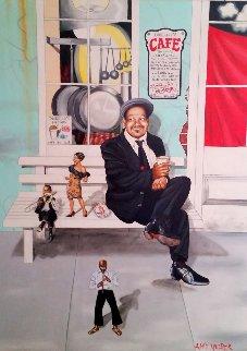 New Orleans Portrait  2004 48x36 Huge Original Painting - Amy Nelder