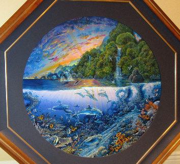 Hana's Undersea Adventure 1994 50x50 Original Painting by Robert Lyn Nelson