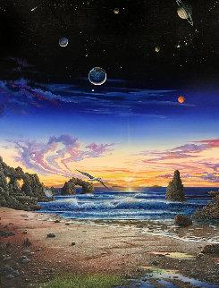Every Night Has Its Dawn 1989 63x51 Original Painting - Robert Lyn Nelson