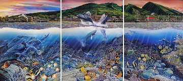 Lahaina Rhythm Land And Sea Triptych 1987 Limited Edition Print by Robert Lyn Nelson