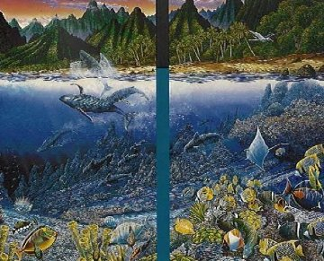 Maui Diptych 1987 Limited Edition Print - Robert Lyn Nelson