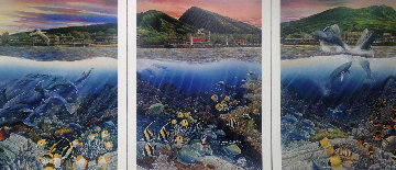 Lahaina Rhythms: Land and Sea Triptych 1987 Limited Edition Print - Robert Lyn Nelson