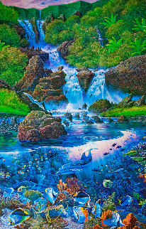 Enfolding Water Fantasy 1991 Limited Edition Print by Robert Lyn Nelson