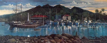 Lahaina Harborfront 1987 Limited Edition Print - Robert Lyn Nelson