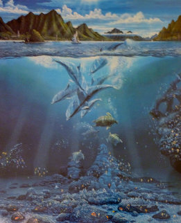 In Harmony, 1990 With Shell Remarque Limited Edition Print - Robert Lyn Nelson