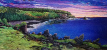 Amethyst Dawn At Kipahulu 1992 Limited Edition Print - Robert Lyn Nelson