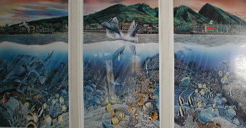 Lahaina Rhythm Land and Sea Triptych Limited Edition Print by Robert Lyn Nelson