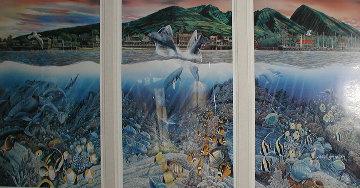 Lahaina Rhythm Land and Sea Triptych Limited Edition Print - Robert Lyn Nelson