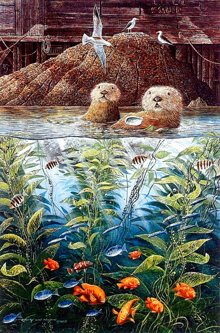 Nature's Union At Monterey w/ Remarque AP 1988 Limited Edition Print by Robert Lyn Nelson