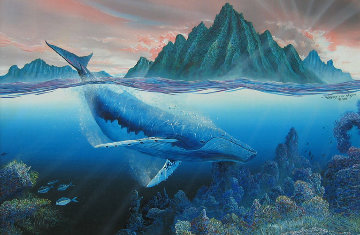 Singing Whale 1988 20x30 Original Painting by Robert Lyn Nelson
