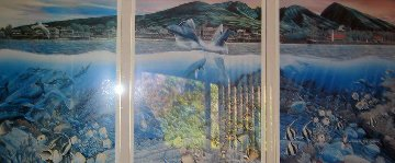 Lahaina Rhythm Land and Sea Triptych with Remarque Limited Edition Print by Robert Lyn Nelson
