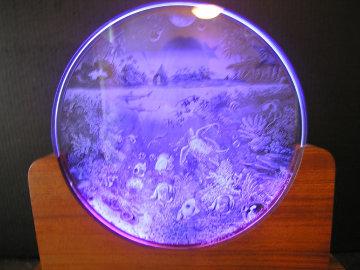 Planetary Choir Glass Luminaire Sculpture 1995 12 in  Sculpture by Robert Lyn Nelson
