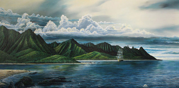 Hanalei Nani, Kauai, Hawaii 1984 Limited Edition Print by Robert Lyn Nelson