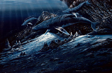 Shallow Waters 1983 24x36 Original Painting by Robert Lyn Nelson