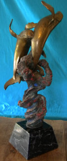 Untitled Bronze Sculpture 1987 24 in Sculpture by Robert Lyn Nelson