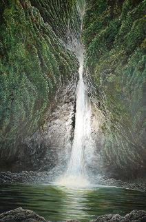 Sacred Falls, Hawaii 1975 40x28 Original Painting by Robert Lyn Nelson