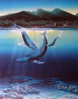 Two Worlds 1980 Limited Edition Print by Robert Lyn Nelson