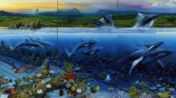 In Celebration of the Newborn Triptych 1988 Limited Edition Print by Robert Lyn Nelson