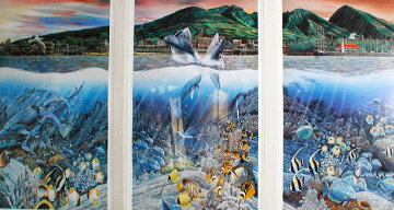 Lahaina Rhythm Land Sea Triptych 1987 Limited Edition Print - Robert Lyn Nelson