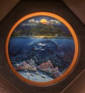 Maui Sea Song 1996 17x17 Original Painting - Robert Lyn Nelson