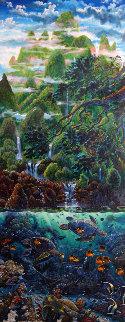 Summer of Dreams 2000  74x38 Original Painting - Robert Lyn Nelson